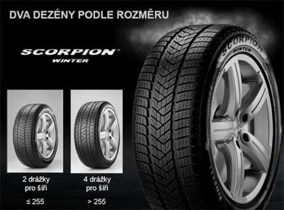 Pirelli SCORPION WINTER 315/35 XL R20 110 V r-f - runflat - dojezdová technologie